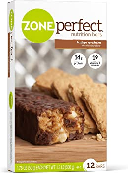 12-Count ZonePerfect Fudge Graham Nutrition Bars
