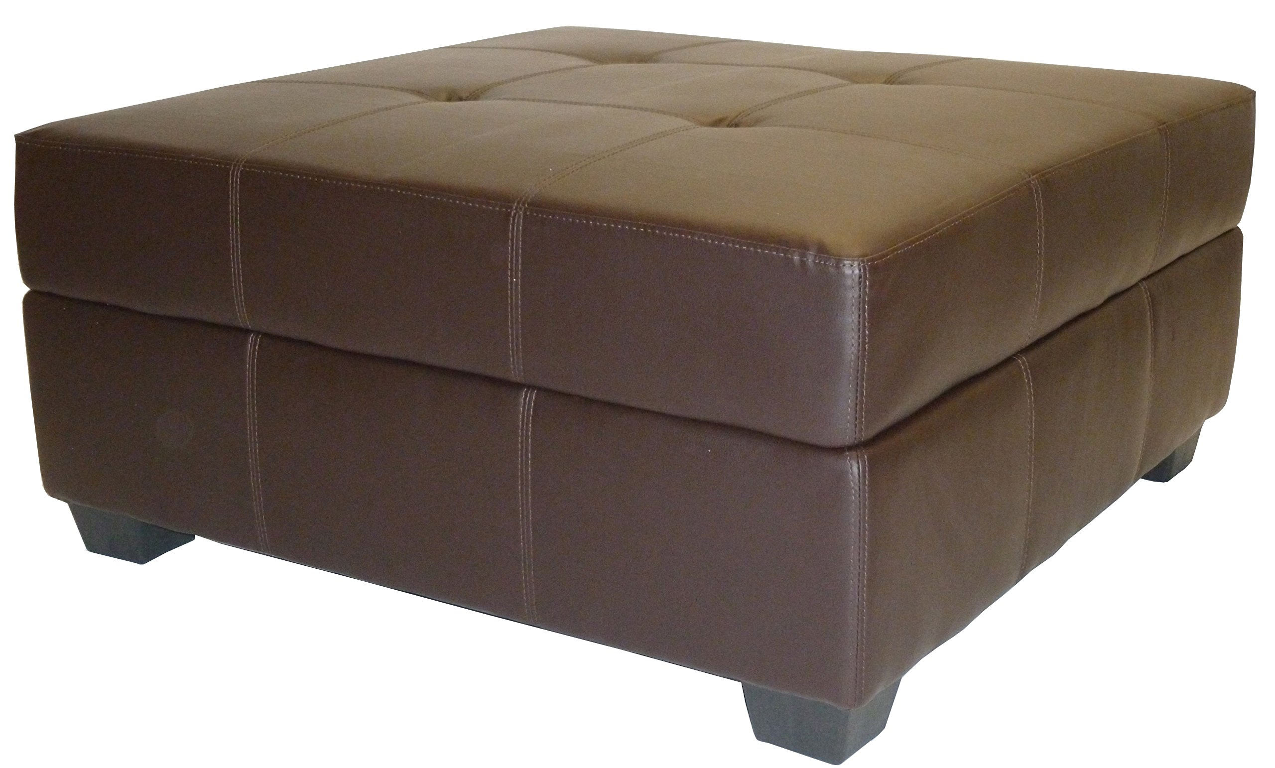 Image Result For Brown Microfiber Storage Ottoman With Tray