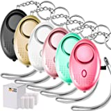 6 Pieces Personal Alarm Keychain, TOODOO 130db Safesound Safety Emergency Alarm with LED Safety and SOS Emergency Alarm Providing Powerful Safety and Property Assurance for Kids, Women (Multicolor A)