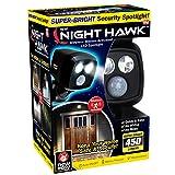 ONTEL Night Hawk - Super Bright 450 Lumen LED Outdoor Indoor Security Spotlight   Advanced Motion Sensor   Adjustable Head   Easy Wireless Installation   3000 Uses