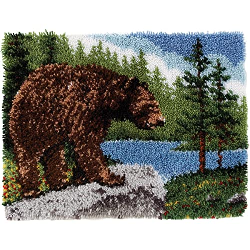 Spinrite Wonderart Classic Latch Hook Kit, 20 by 30-Inch, Grizzly Bear