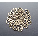 BJD Shoes Buckle,DIY bjd Japanese Doll Bag Buckles Belt Buckle Sewing Fasteners 20 pcs (Bronze) (Color: bronze)