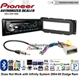 Volunteer Audio Pioneer DEH-S6010BS Double Din Radio Install Kit with Bluetooth, Sirius XM, CD Player Fits 2002-2005 Dodge Ram, Stratus, 2002-2007 Jeep Liberty