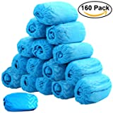 160 Pack Shoe Covers - Disposable Hygienic Boot Cover for Medical, Construction, Workplace, Indoor Carpet Floor Protection by THETIS Homes- One Size Fits Most