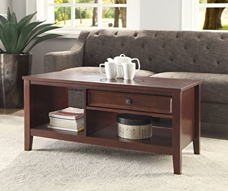 Weldon Storage Coffee Table, Cherry