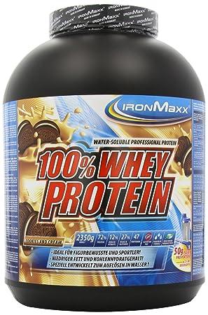Ironmaxx 100% Whey Protein, Cookies und Cream, 2350g Dose