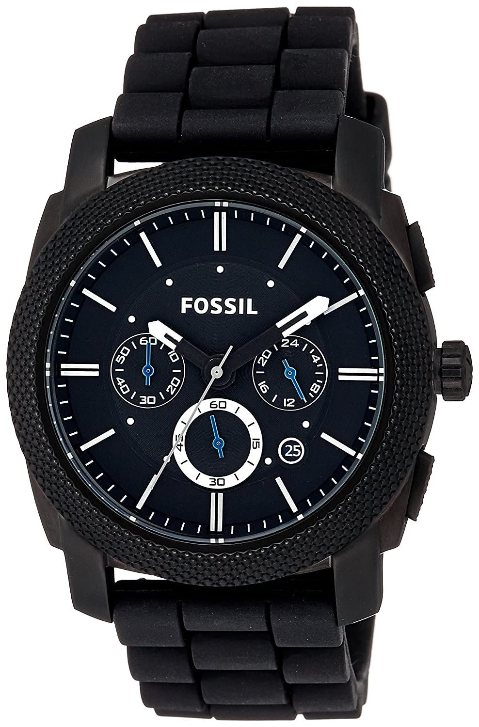 buy fossil machine chronograph analog black dial men s watch buy fossil machine chronograph analog black dial men s watch fs4487 online at low prices in amazon in