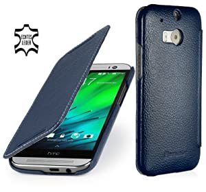 StilGut® Book Type, Leather Case for HTC One M8, Navy BlueCustomer review and more info