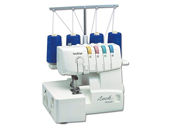 Brother 1034D 3/4  Thread Serger with Differential Feed (Renewed) (Color: White)