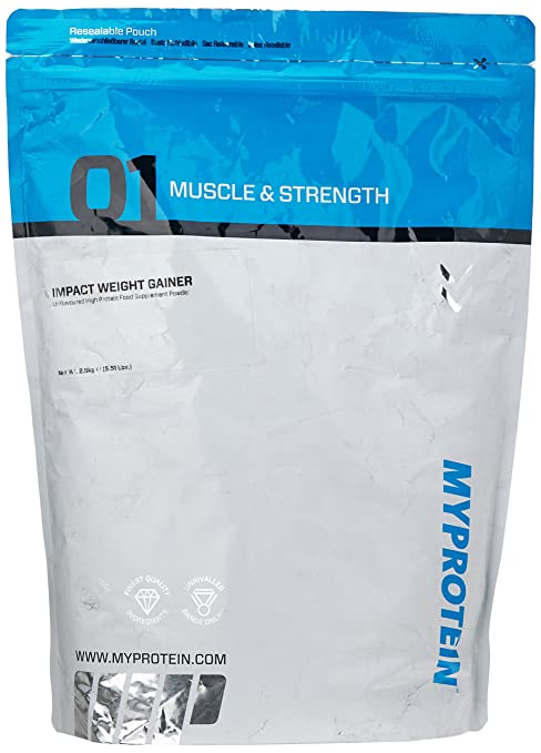 Myprotein Impact Weight Gainer Unflavoured, 1er Pack (1 x 2.5 kg)
