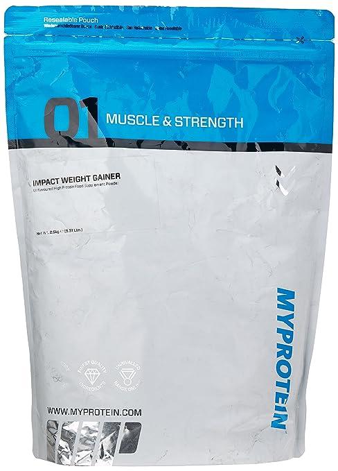 Myprotein Impact Weight Gainer Unflavoured, 1er Pack (1 x 2.5 kg)