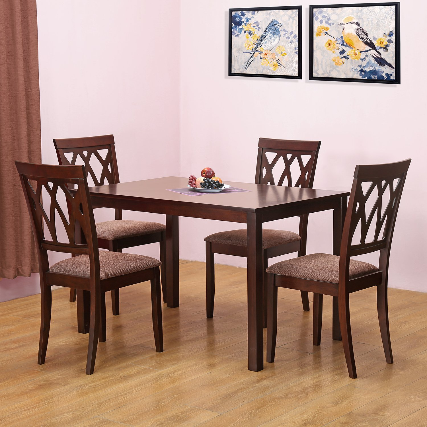 4 Chairs In Dining Room: @home By Nilkamal Peak Four Seater Dining Table Set (Beige