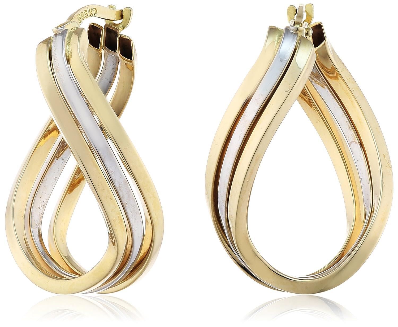 Celesta Damen-Creolen 585 Gelbgold zweifarbig 3 reihig L= 26 mm 324310100-1 schenken