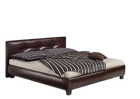 Maintal Betten 222464-4828 Polsterbett Kenia 140 x 200 cm, braun
