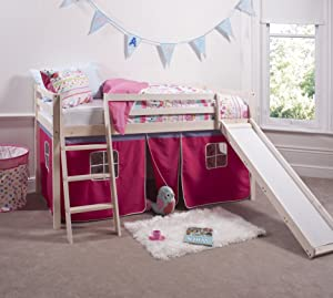 Cabin Bed & Mattress with Slide Pink Tent 6007       review and more news