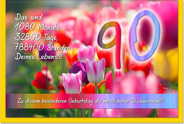 Gl ckw nsche zum geburtstag zum 90 geburtstagsgl ckw nsche karte - Geburtstagsideen zum 90 ...