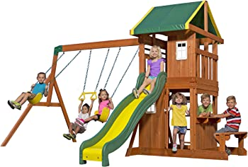 Backyard Discovery Oakmont All Cedar Wood Playset