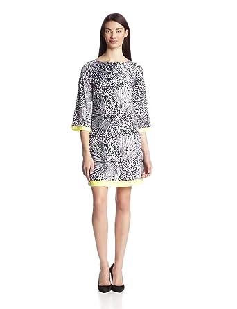 Eliza J Women's 3/4 Sleeve Shift Dress, Navy, 6