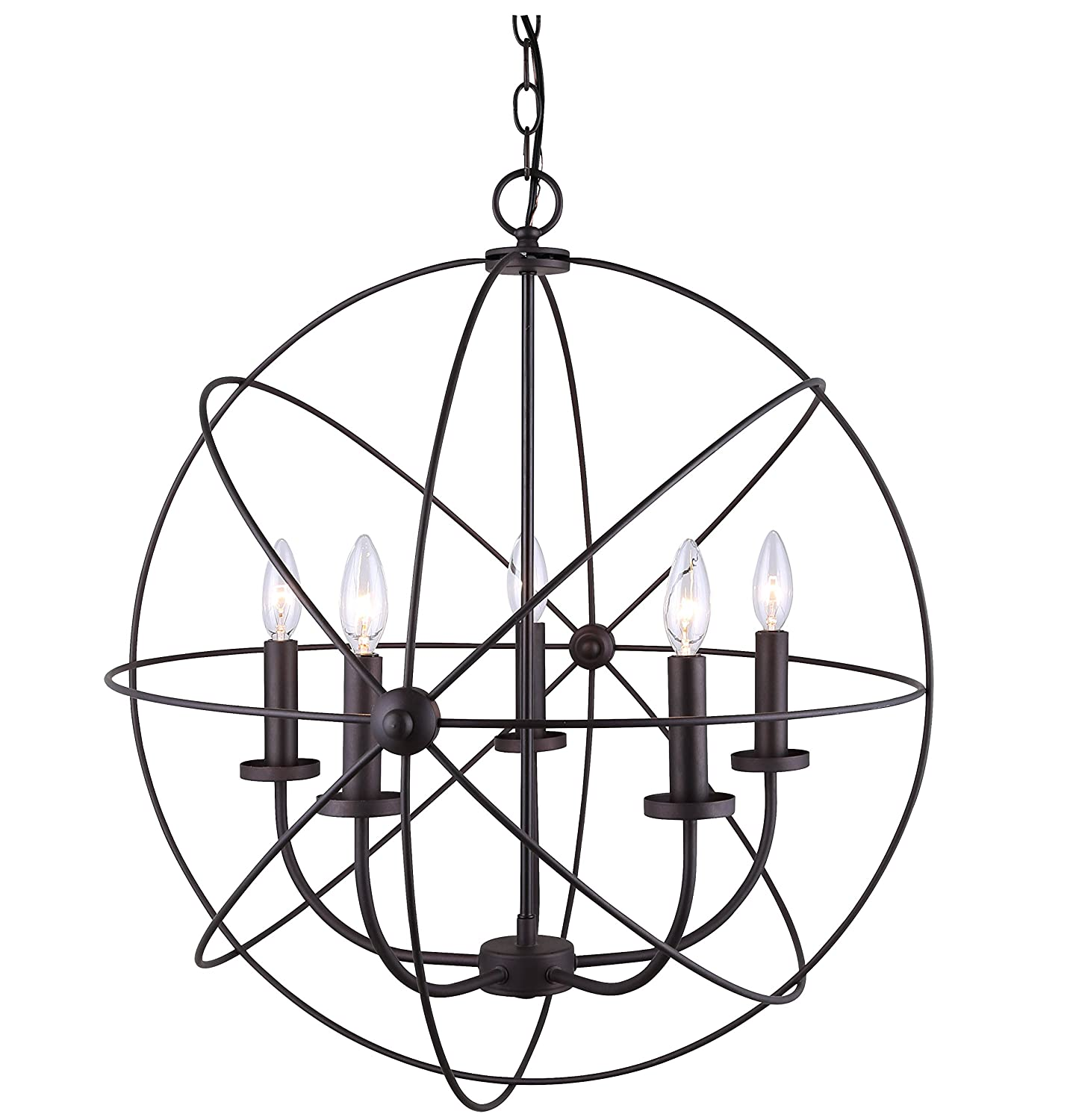 CANARM ICH282B05ORB25 Sumerside 5 Light Chandelier