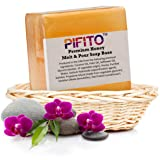 Pifito Premium Honey Melt and Pour Soap Base (3 lb) - Natural Vegetable Glycerin Soap Base - Excellent Hand Soap Base Making Supplies