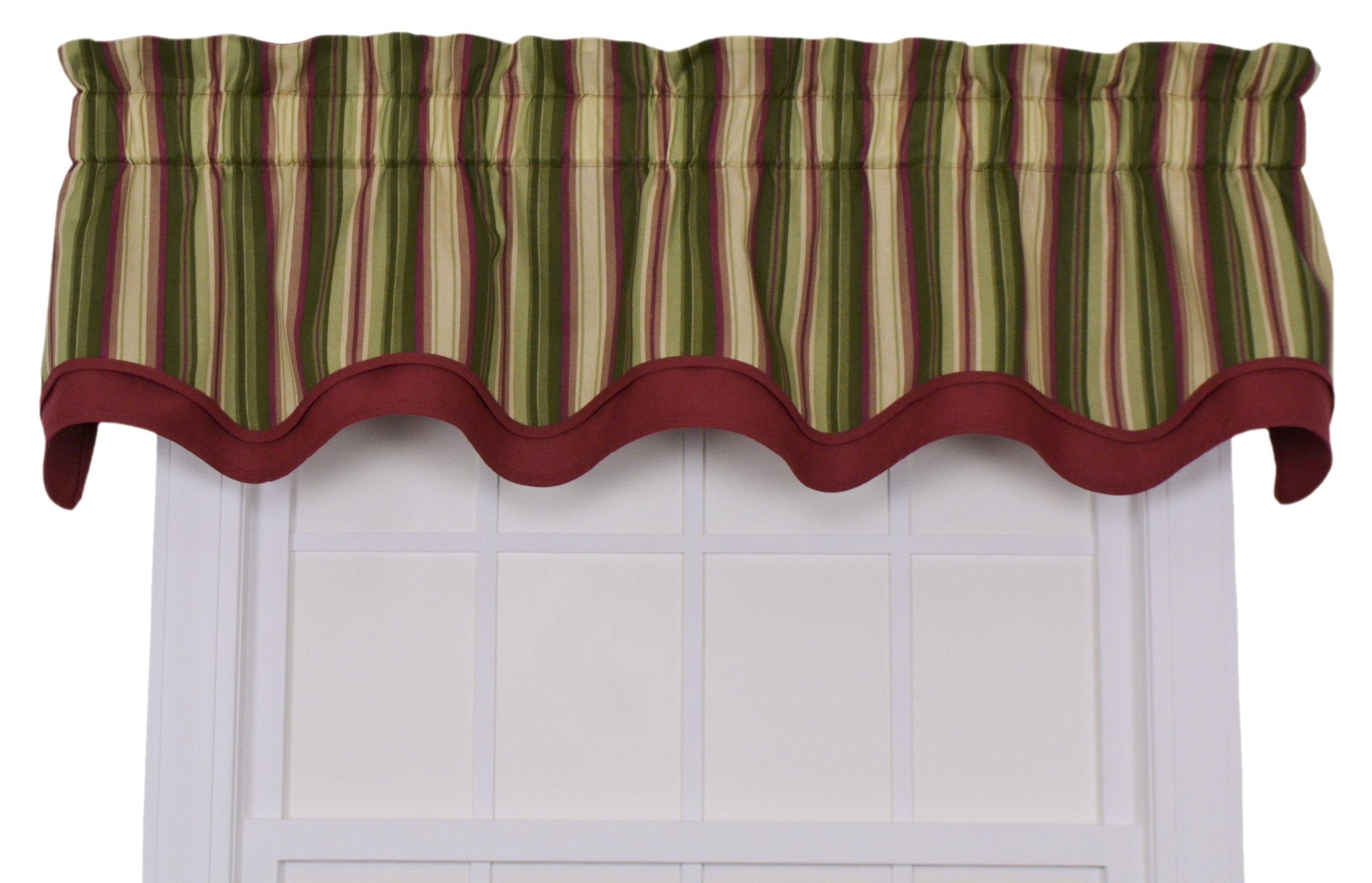 Striped valance curtains