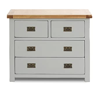 Birlea New Hampshire 2 + 2-Drawer Chest - Wood, Grey and Oak