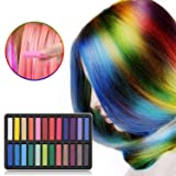 Wehome Hair Chalk Set, 24 Hair Dye Colors Non-Toxic Washable Temporary Hair Chalk for Girls Kids Party Cosplay Halloween