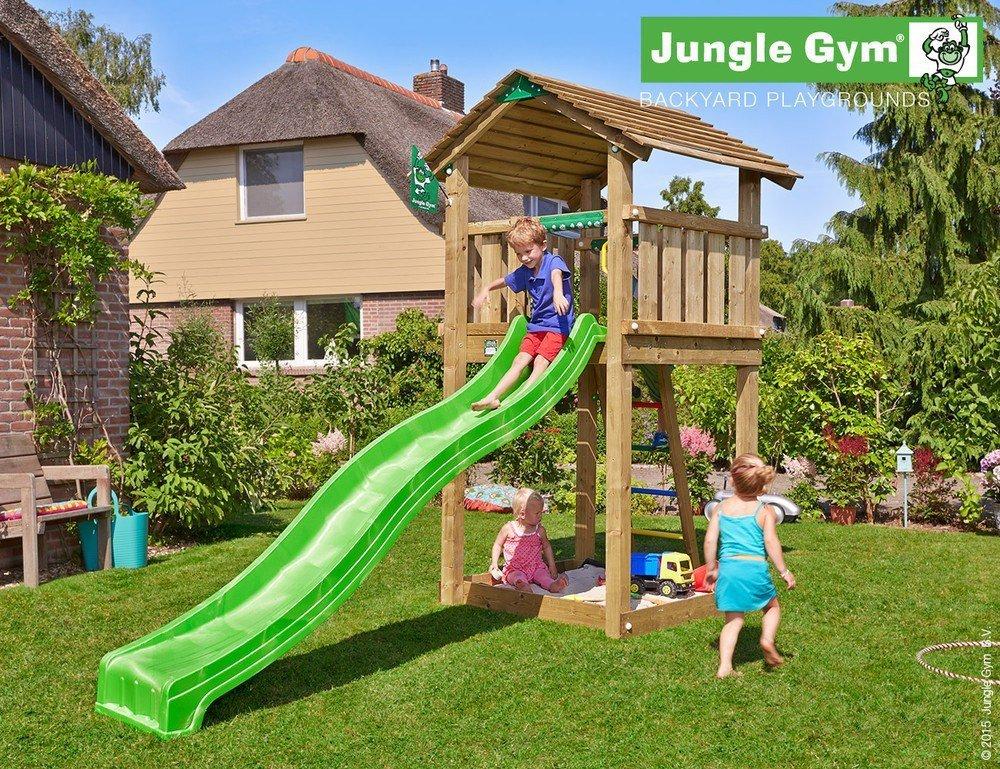 Spielturm Jungle Cottage – Set mit Feuerwehrstange online bestellen