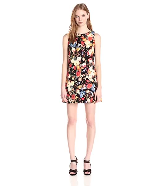 Floral Roses Dress Dress Black Painted Rose
