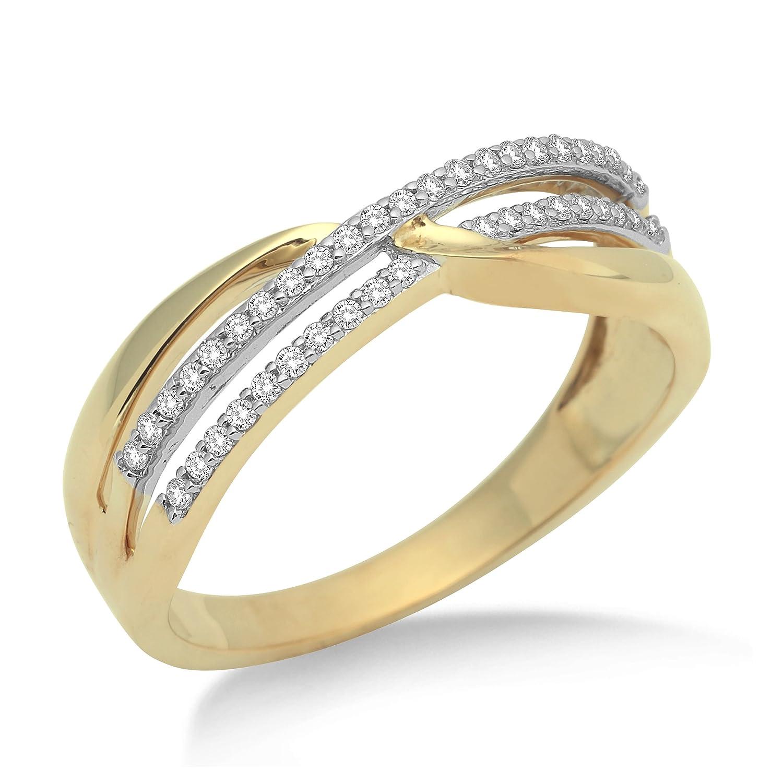 Miore Damen-Ring 375 Gelbgold mit Brillanten MF9003RM