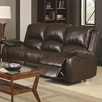 Coaster Home Furnishings 600971 Casual Motion Sofa, Brown