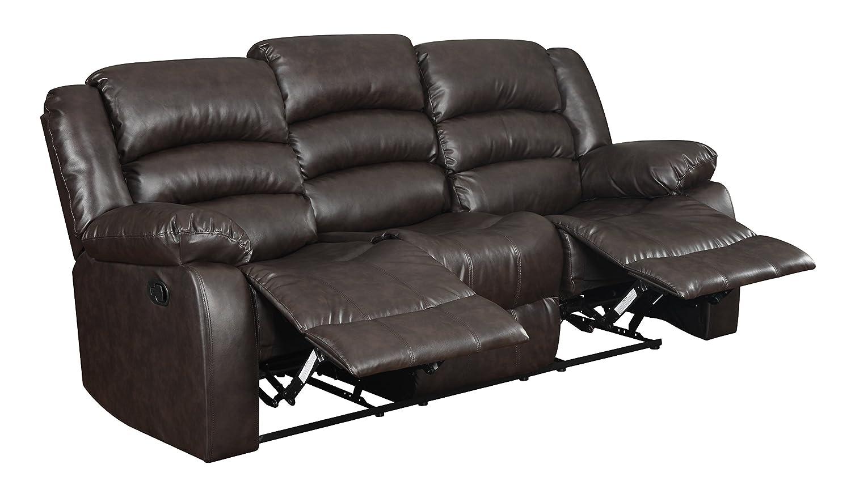 Glory Furniture G942-RS Reclining Sofa - Brown