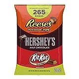 HERSHEY'S Halloween Candy Assortment, Bulk Chocolate Candy, HERSHEY'S, REESE'S, and KIT KAT, 265 Pieces, 5 LB Bag 80.39 OZ (Tamaño: 265 Pieces)