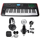 Novation IMPULSE 49-Key Ableton Live MIDI USB Keyboard Controller+Headphones+Mic