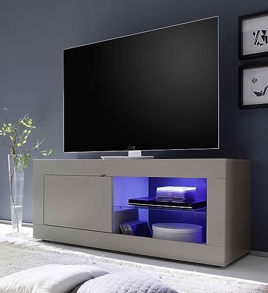 Mobile TV 1 Porta 1 Nicchia 140x43x56cm Sodani Basic Peltro