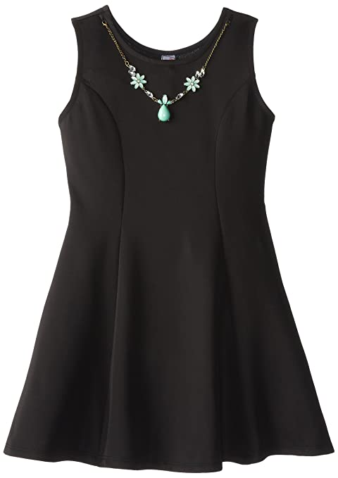 Beautees-Big-Girls-Tank-Dress-with-Necklace