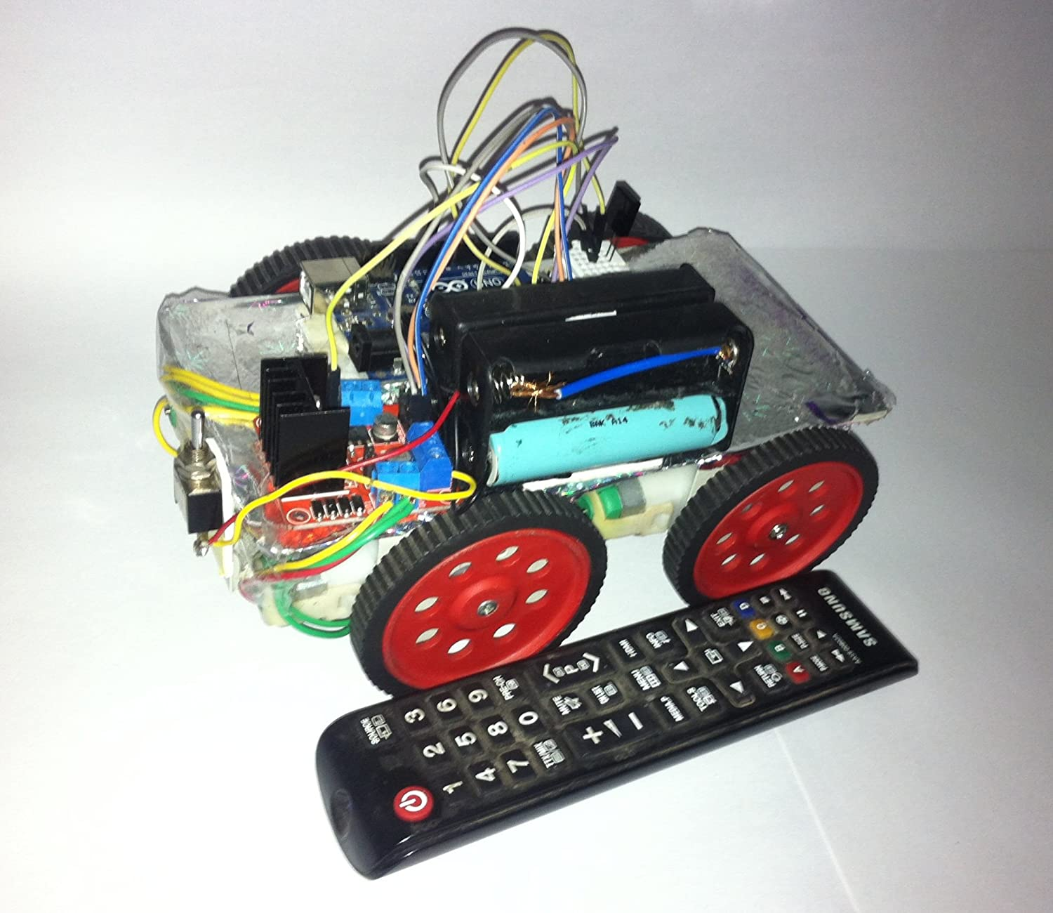 Infrared t v remote controlled robot using arduino uno