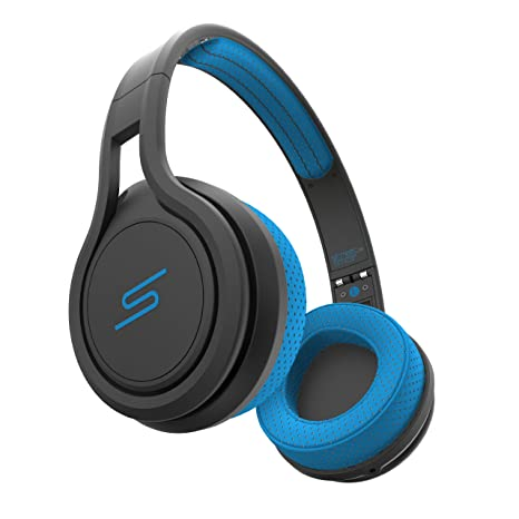 SMS Audio STREET by 50 On Ear Wired Sport Headphones - Blue