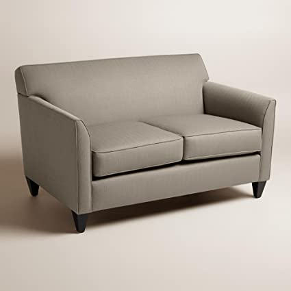 Textured Woven Stellan Upholstered Love Seat - World Market