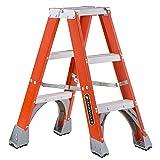 Louisville Ladder FM1503 Fiberglass Twin Front Ladder, 3-Feet, 300-Pound Duty Rating (Tamaño: 3 Feet)