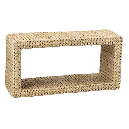 """Household Essentials Woven Natural Banana Leaf Coffee Table, 11"""" H x 31.50"""" W x 15.75"""" L"""