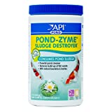 API POND-ZYME SLUDGE DESTROYER Pond Water Cleaner With Barley 1-Pound Container (Color: White, Tamaño: 1 pound)