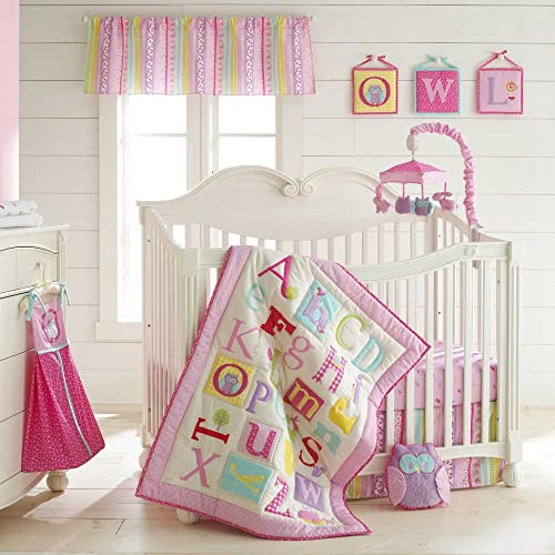 Owlphabet 4 Piece Crib Bedding Set Color: Pink
