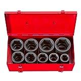 TEKTON 1-Inch Drive Deep Impact Socket Set, Inch, Cr-Mo, 6-Point, 1-Inch - 2-Inch, 9-Sockets   4892