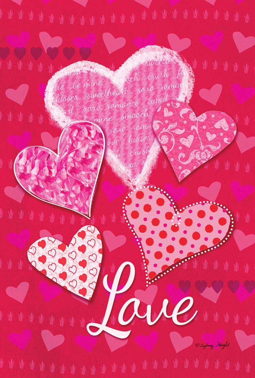 Love Valentine Garden Flags