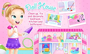 Doll House Cleanup & Decoration - Bedroom, Kitchen & Bath Designer from TutoTOONS