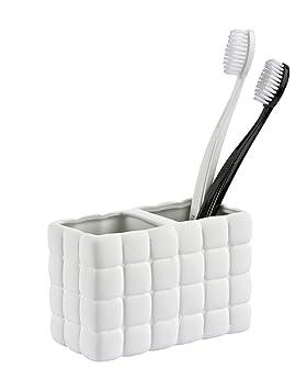 wenko 20203100 porte brosse porte brosse dents cube c ramique blanc 12 5 12 5 x 6 3 x 2. Black Bedroom Furniture Sets. Home Design Ideas