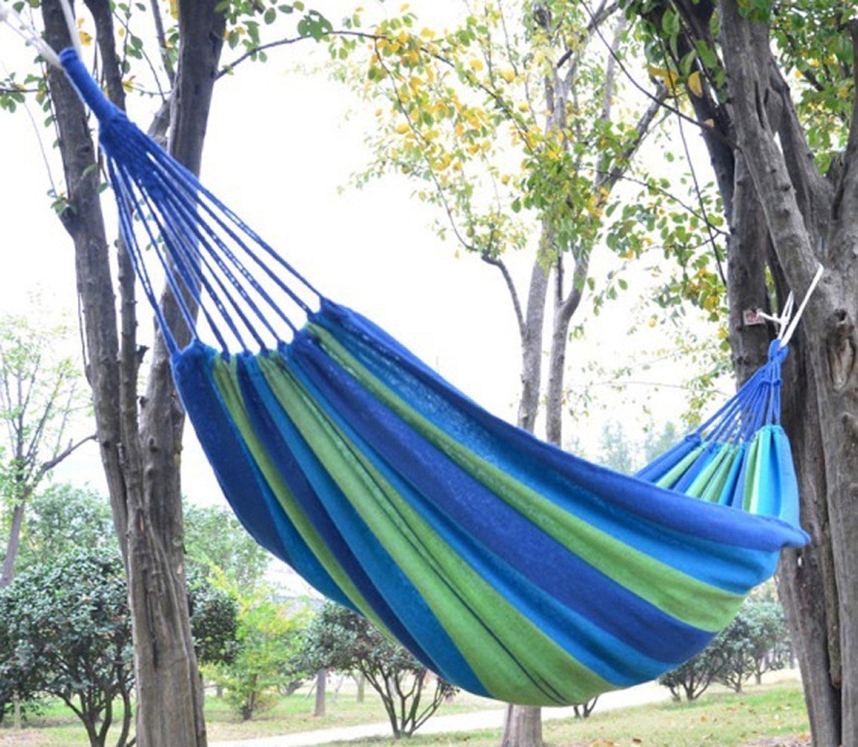 Enjoydeal Portable Parachute Nylon Fabric Travel Camping Hammock