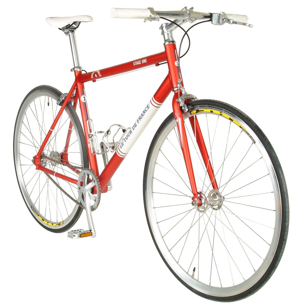 Tour de FranceStage One Vintage Fixie Bike, 700c Wheels,Men's Bike, Red, 45 cm Frame, 51 cm Frame, 56 cm Frame 1