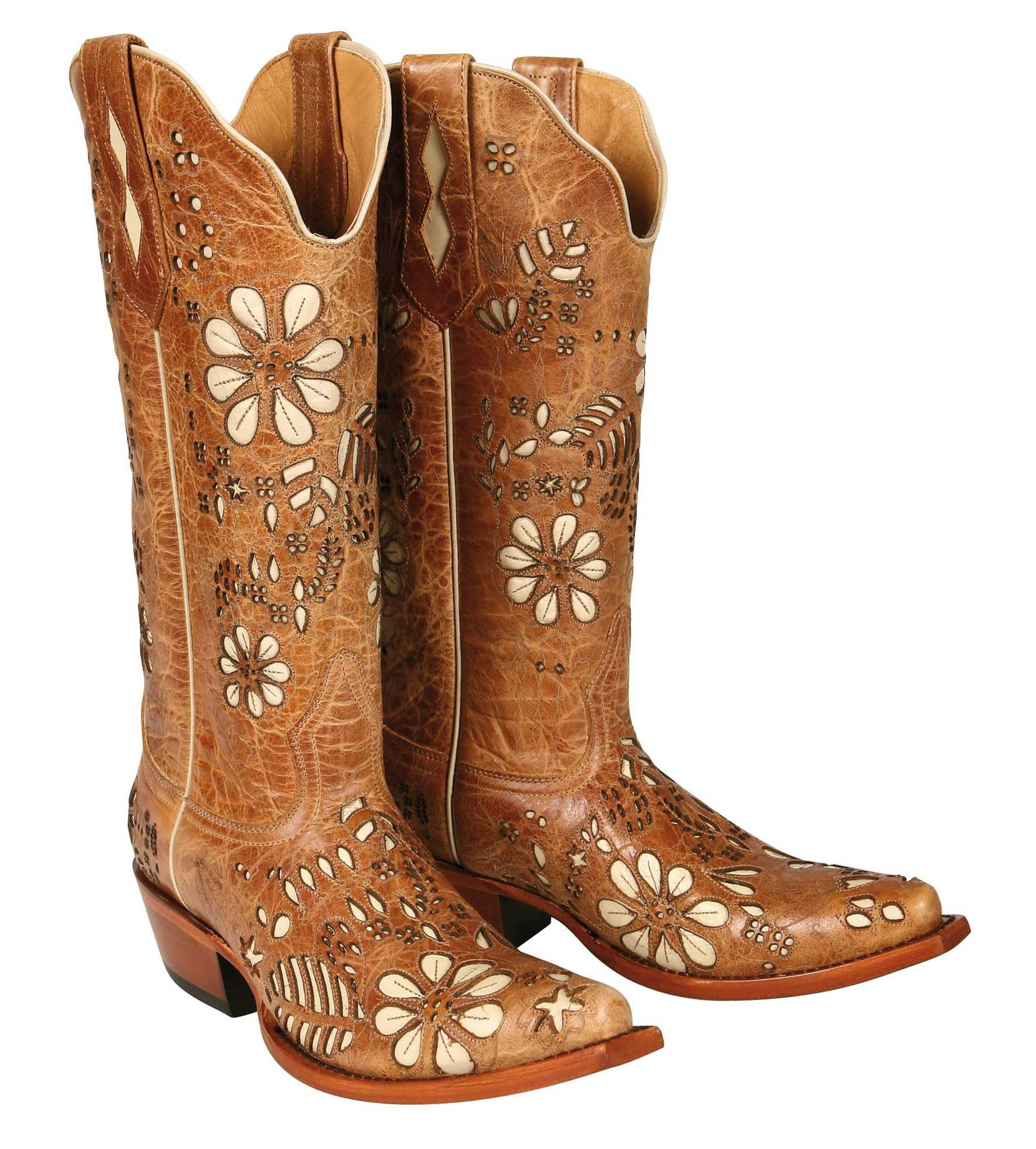 Johnny Ringo Womens Western Boot T- Toe Antique Tan Bison Leather 628-18T B(M)